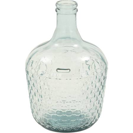 Decmode Glass Wide Bottle Vase, Multi Color