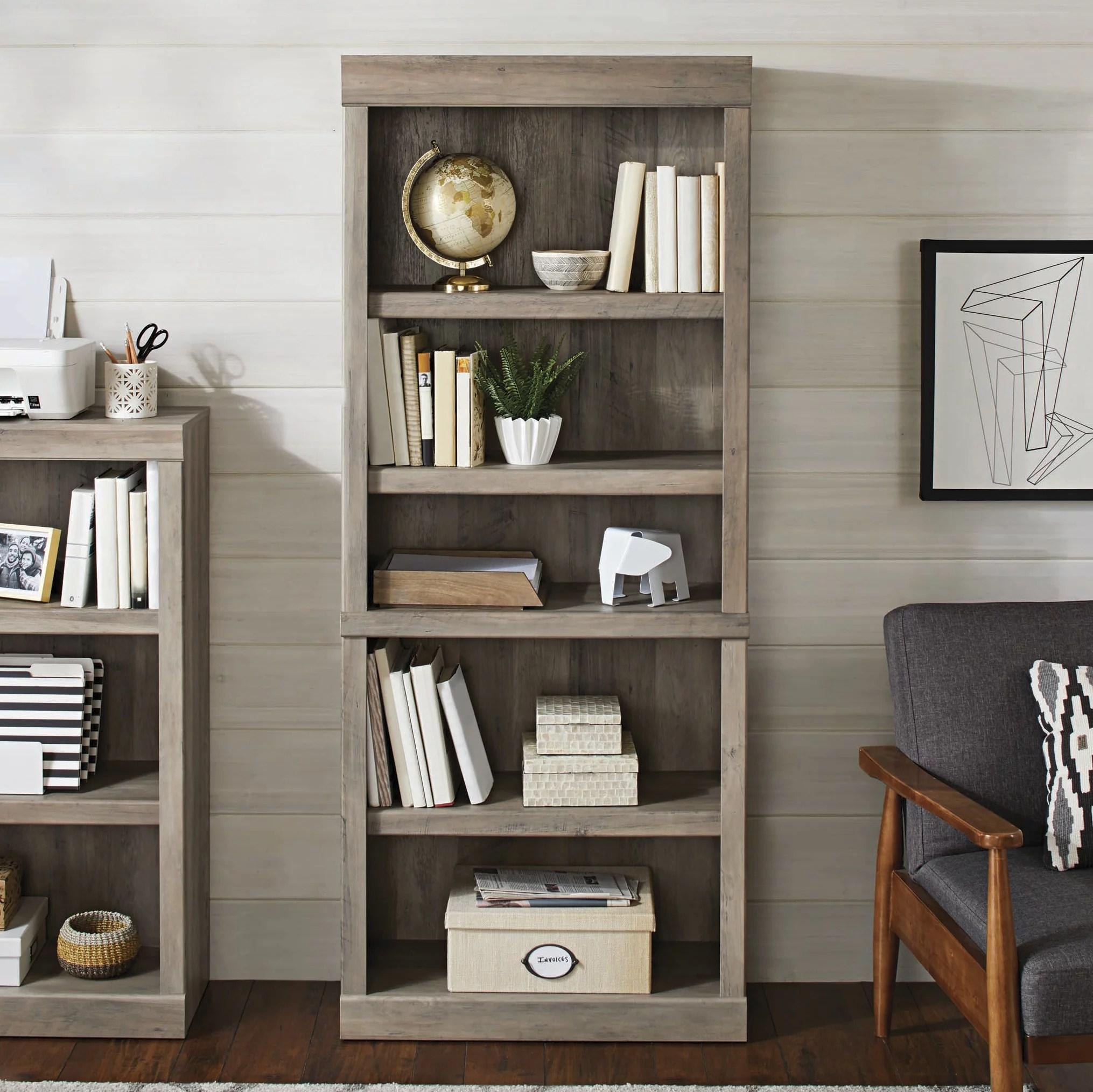 mainstays 71 5 shelf bookcase espresso