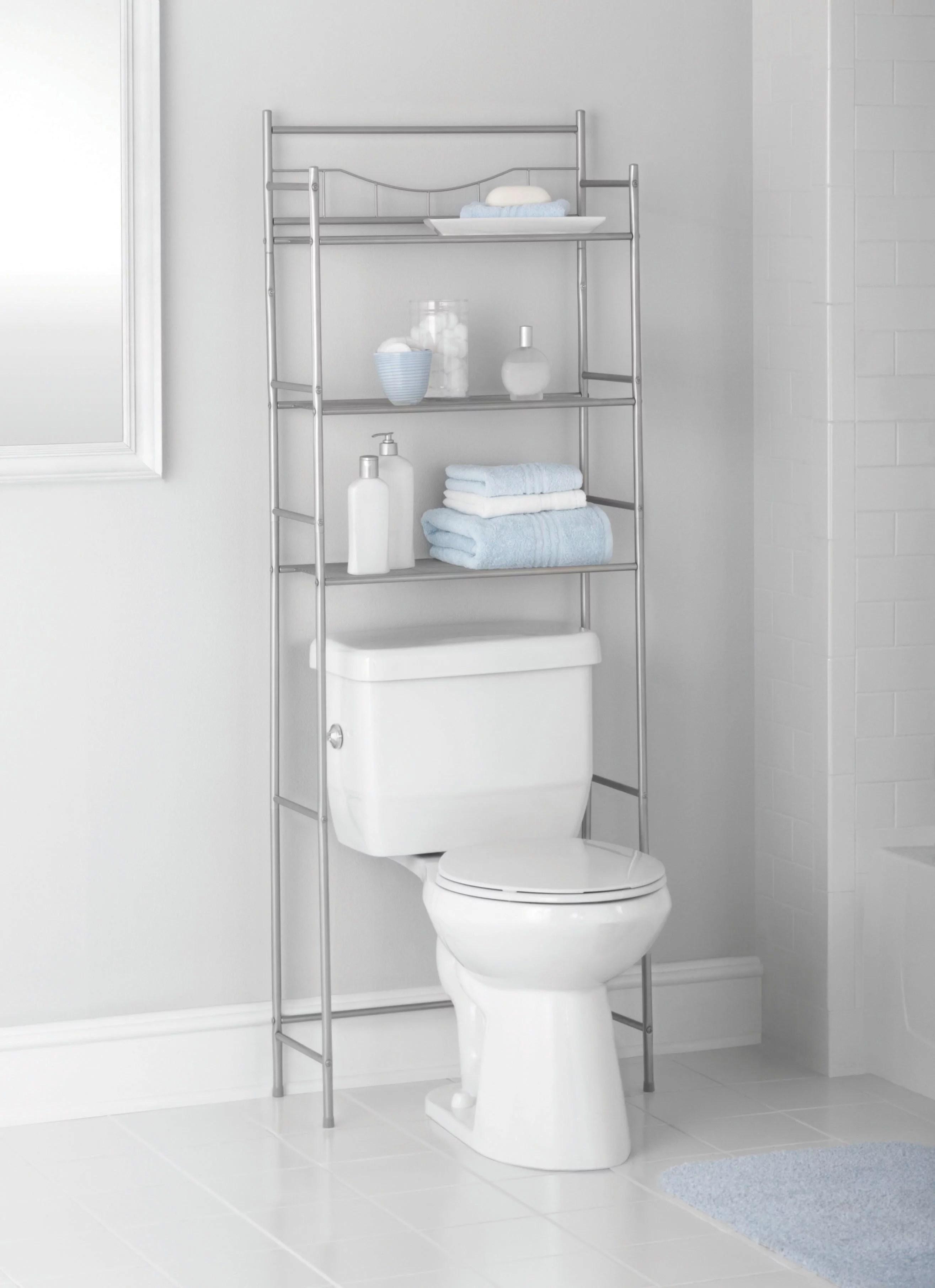 Mainstays 3shelf Bathroom Space Saver, Satin Nickel