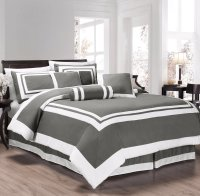 Chezmoi Collection Caprice 7-Piece Square Pattern Hotel ...