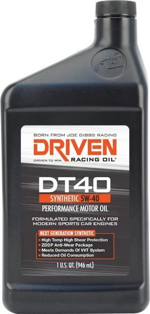 medium resolution of driven racing oil joe gibbs 02406 oil dt40 sae 5w 40 synthetic 1 quart bottle single european sports car oil walmart canada