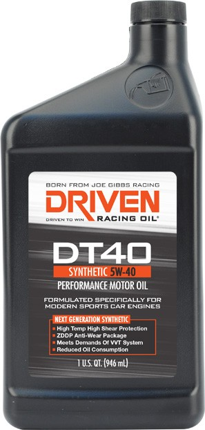 hight resolution of driven racing oil joe gibbs 02406 oil dt40 sae 5w 40 synthetic 1 quart bottle single european sports car oil walmart canada