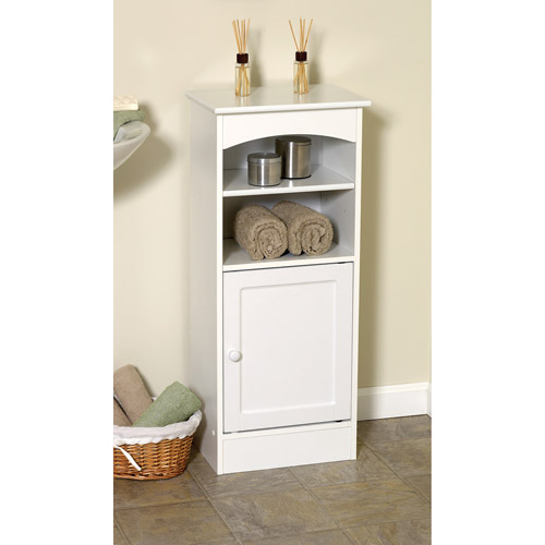 Wood Bathroom Storage Cabinet, White  Walmartcom