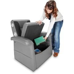 Storage Ottoman Sound Chair Slipcover For Wingback X Rocker Flip 2 1 Audio Ch Walmart Com
