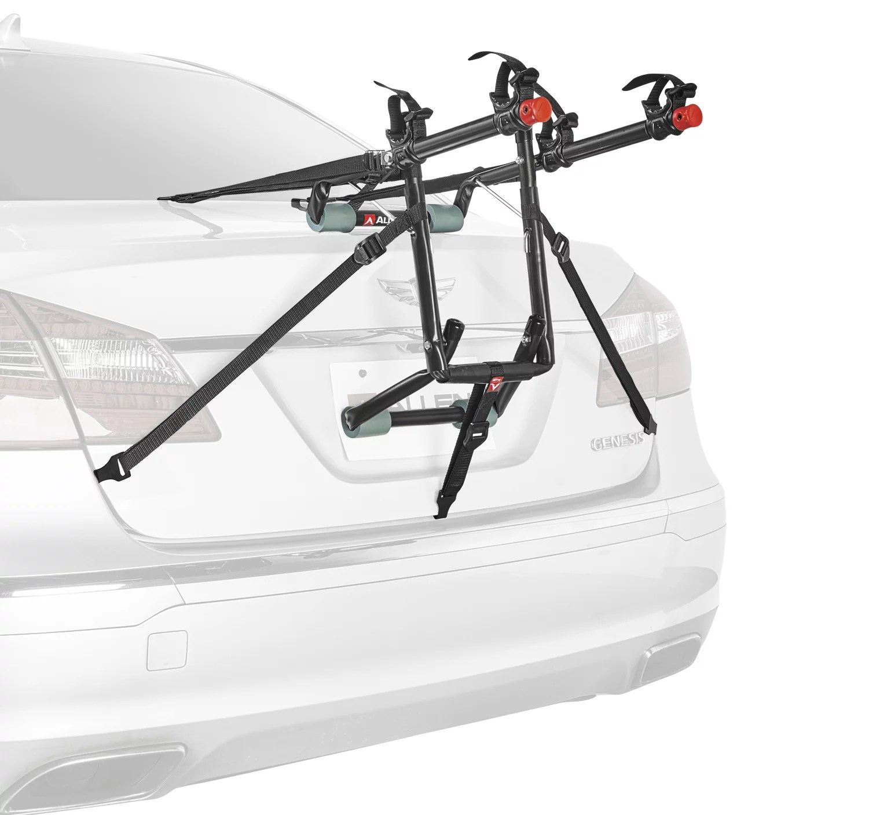 allen sports deluxe 2 bicycle trunk mounted bike rack carrier 102dn