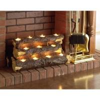 Southern Enterprises Resin Tealight Fireplace Log ...