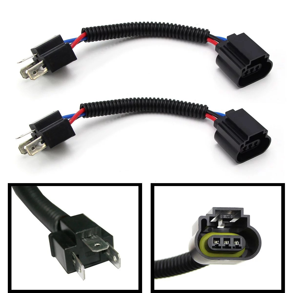 hight resolution of 2 ijdmtoy h4 9003 to h13 9008 pigtail wire wiring harness adapters rh walmart com xentec