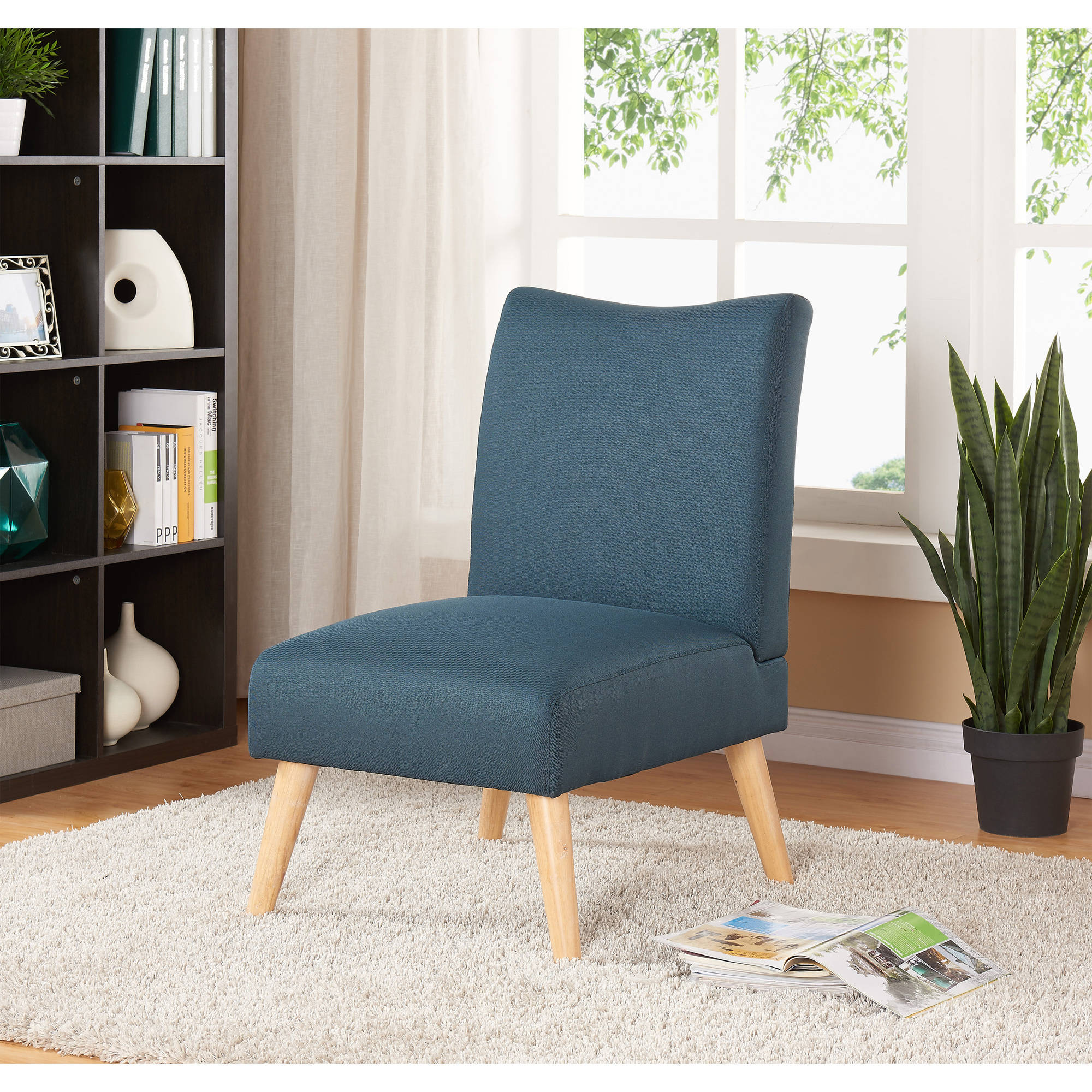 walmart living room chairs old hollywood decor mainstays solid armless slipper chair multiple colors com