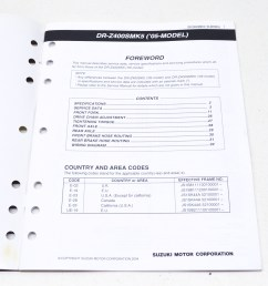 suzuki 99501 43110 03e supplementary service manual dr z400sm qty 1 walmart com [ 2464 x 1632 Pixel ]