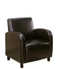 Unique Sleek Inspired Style Dark Brown Leather-Look Chair ...