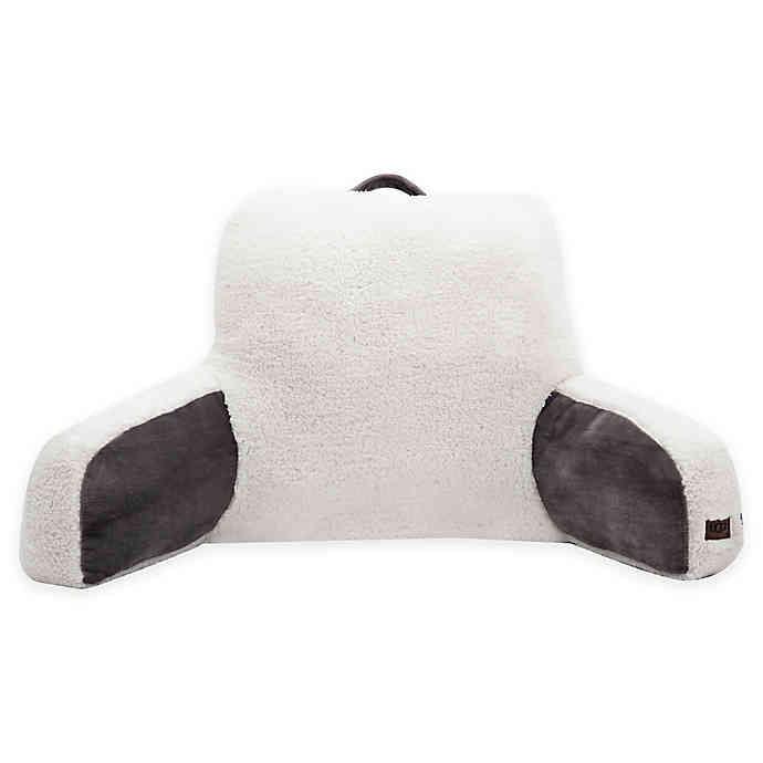 ugg clifton backrest pillow in charcoal walmart com