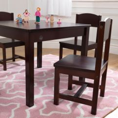 Kidkraft Farmhouse Table And Chair Set Espresso Ostrich 3 N 1 Beach Lounger Wood 4 Chairs Multiple Colors Image Of 7