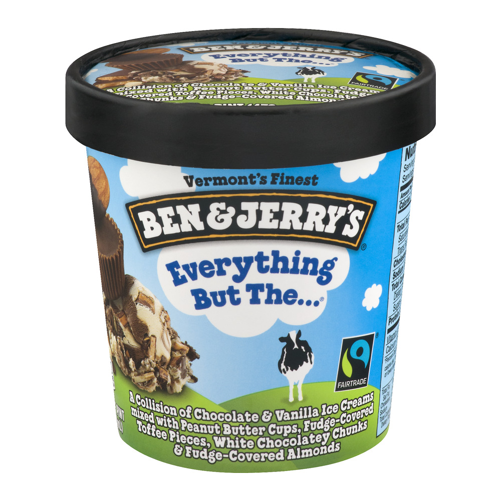Ben Jerry S Everything But The 2 Twisted Ice Cream 1 Pint Walmart