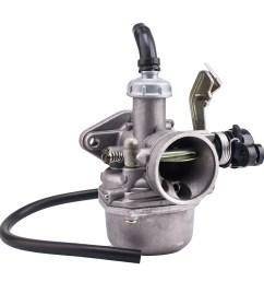 19mm carburetor carb pz19 with fuel filter for chinese 50 70 90 110 cc atv quad 4 wheeler walmart com [ 1000 x 1000 Pixel ]