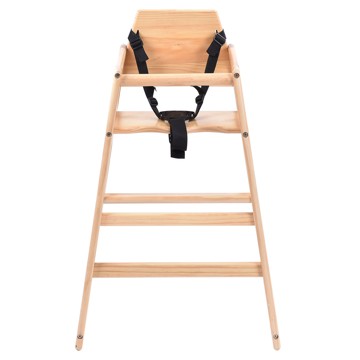 Toddler Wooden Chair Costway Baby High Chair Wooden Stool Infant Feeding Children Toddler
