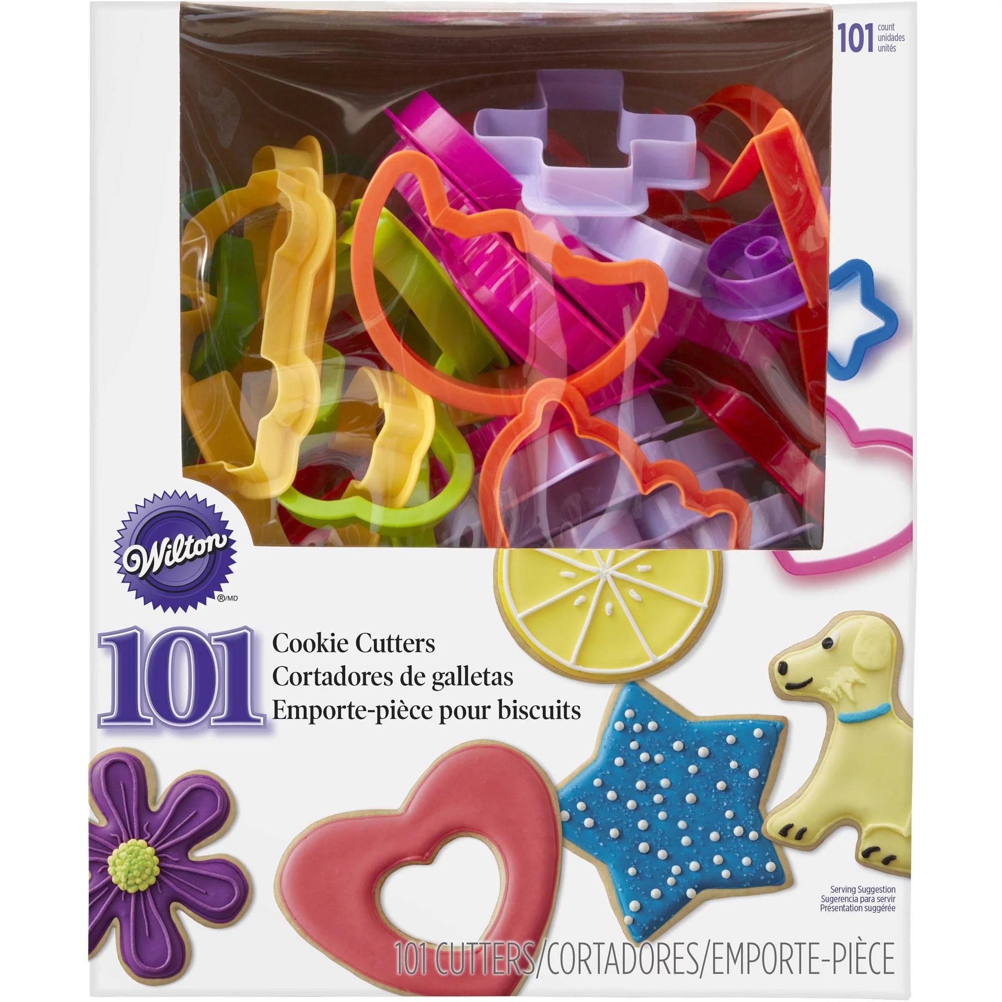 Wilton Plastic Cookie Cutter Set 101Piece Kit ABC 123 Shapes  Walmartcom