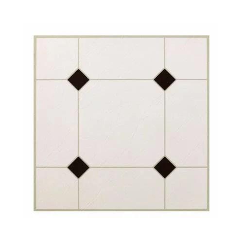 kd0309 black white peel stick vinyl floor tile 12 x 12 in