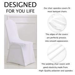 Party Chair Covers Walmart Antique Desk Chairs Uk Zimtown Set Of 50pcs White Color Polyester Spandex Banquet Wedding