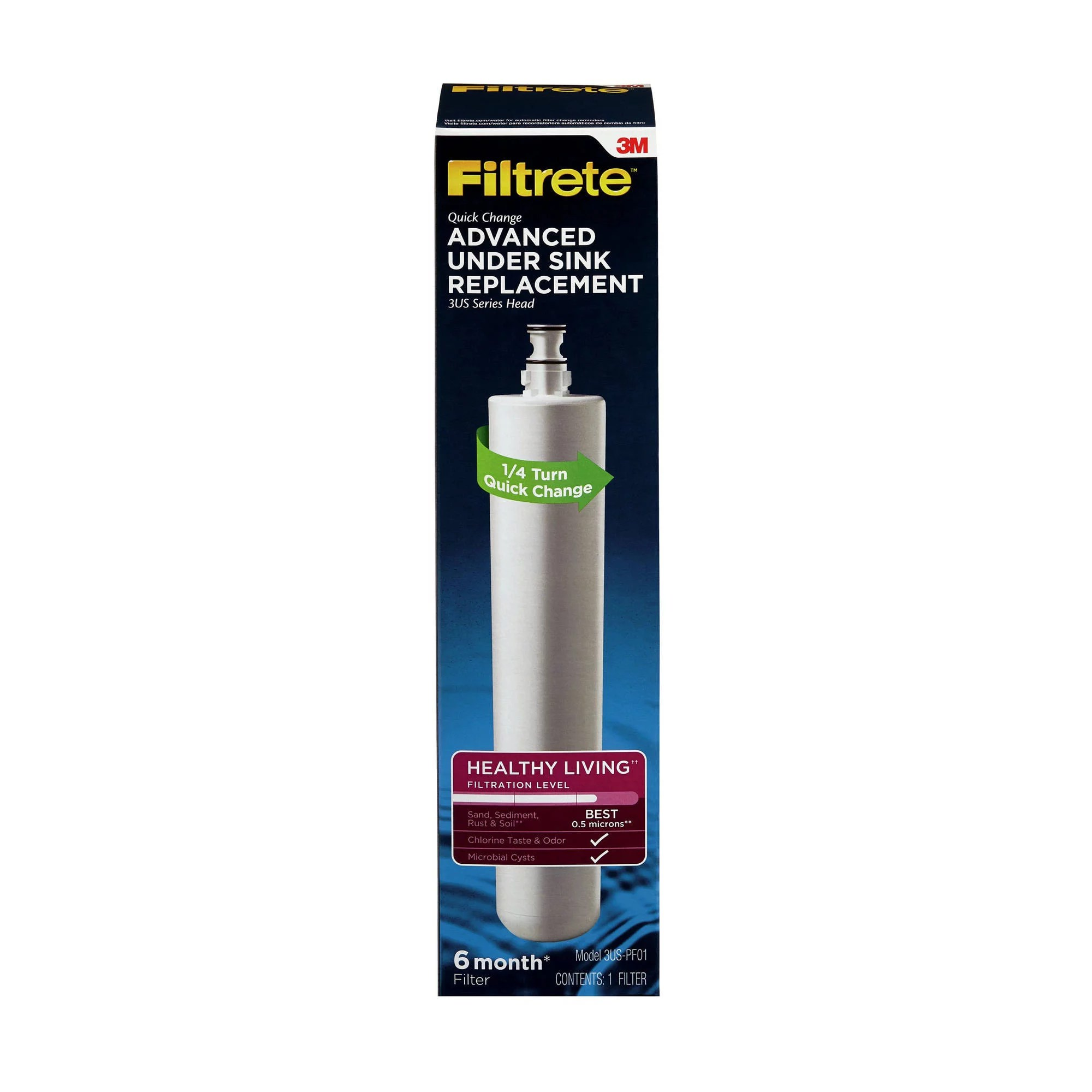 3m filtrete under sink advanced replacement water filter