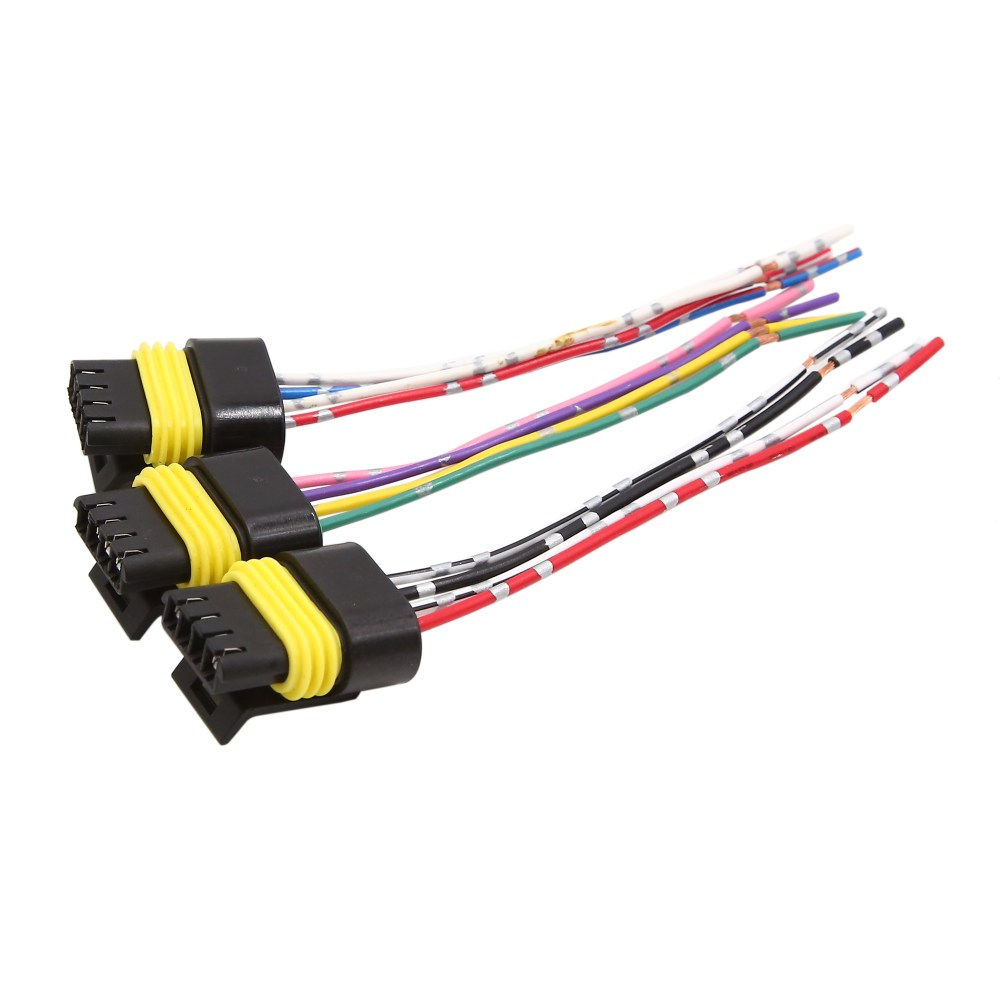 medium resolution of 3 pcs 4 wires dc 12v plastic motor wiring harness connector for car vehicle walmart com