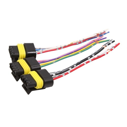 small resolution of 3 pcs 4 wires dc 12v plastic motor wiring harness connector for car vehicle walmart com