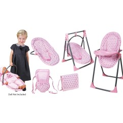 Baby Toy High Chair Set Fake Wood Adirondack Chairs Lissi Doll 6 In 1 Convertible Highchair Play Walmart Com