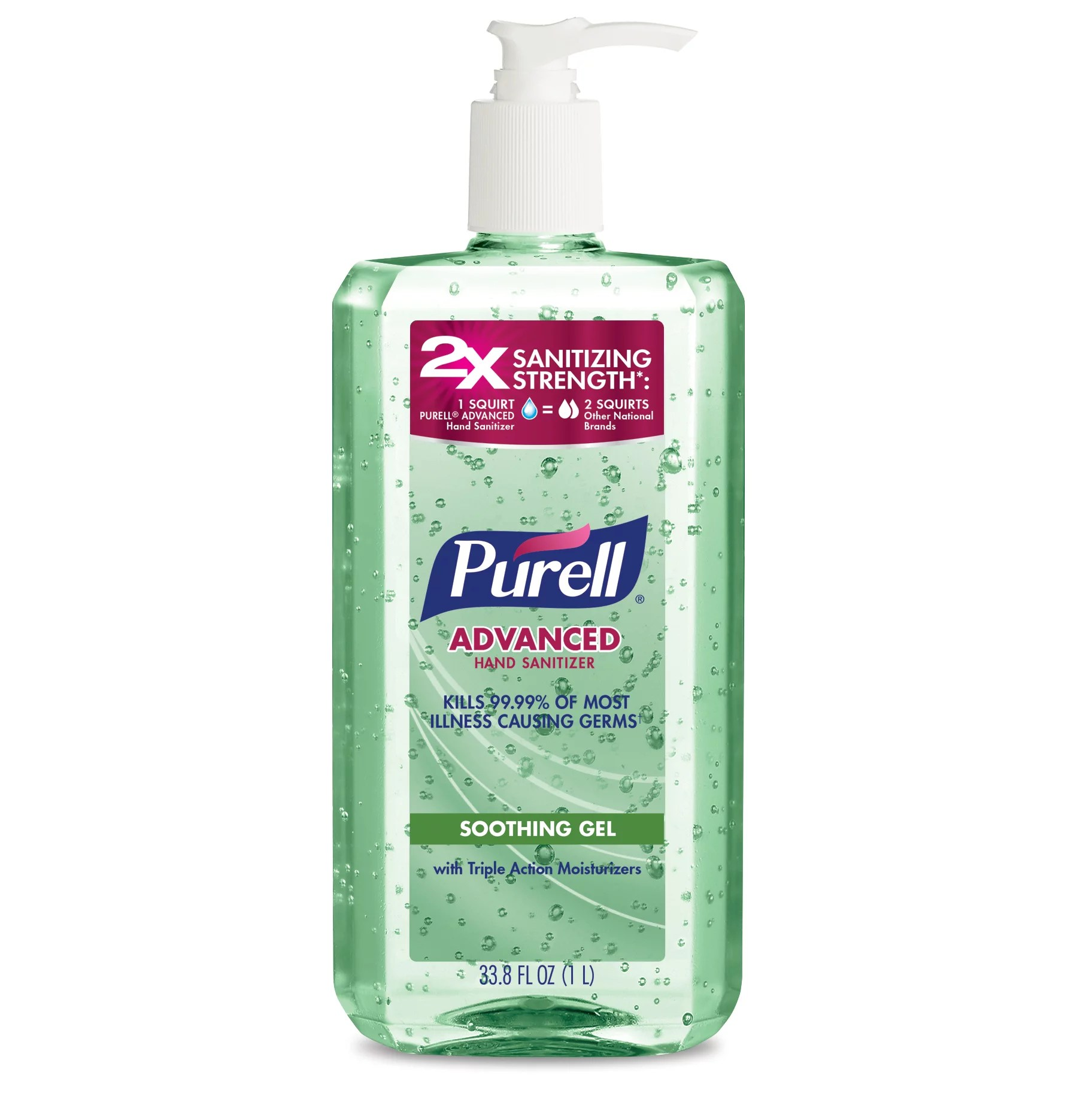 (Pack of 2) PURELL Advanced Hand Sanitizer Soothing Gel ...