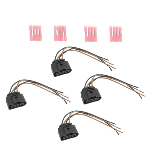 small resolution of cf advance for 00 08 audi a4 a5 a6 a8 rs4 s4 s6 s8 vw beetle eos golf jetta passat ignition coil repair kit connector pigtail harness wires set of 4pcs 2000