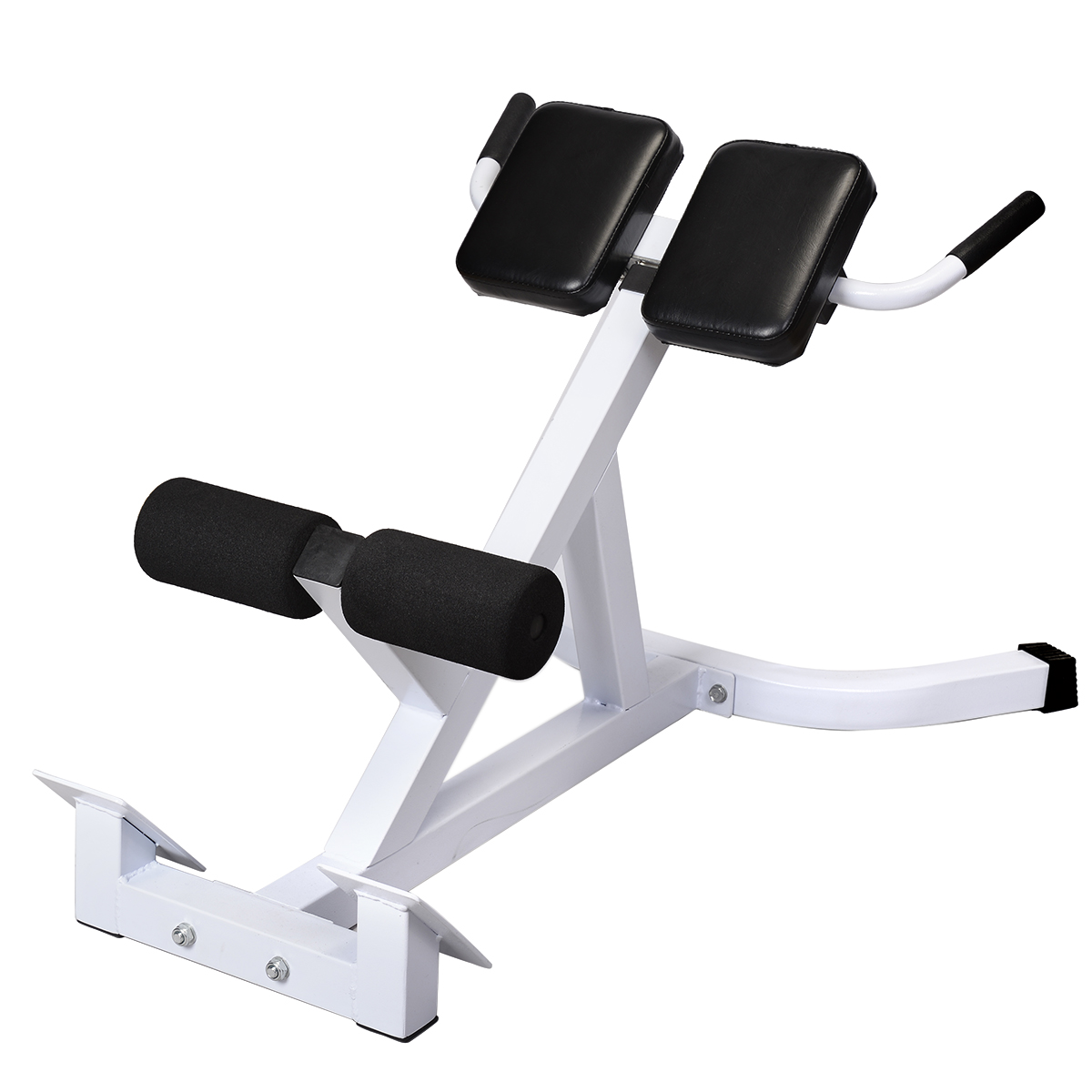 chair gym commercial walmart rocking chairs goplus extension hyperextension back exercise ab bench abdominal roman com
