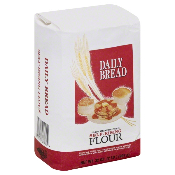 Daily Bread Bleached-Enriched Self-Rising Flour 32 oz ...
