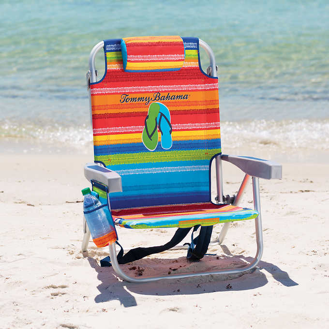 backpack cooler beach chair cosco high adjust tommy bahama with storage pouch and towel bar multicolor walmart com