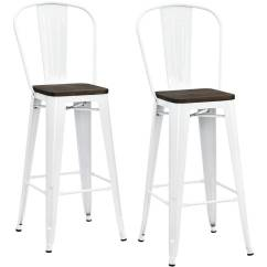 Wood Stool Chair Design Cane Swing Nz Dhp Luxor 30 Metal Bar With Seat Set Of 2 Various Colors Walmart Com