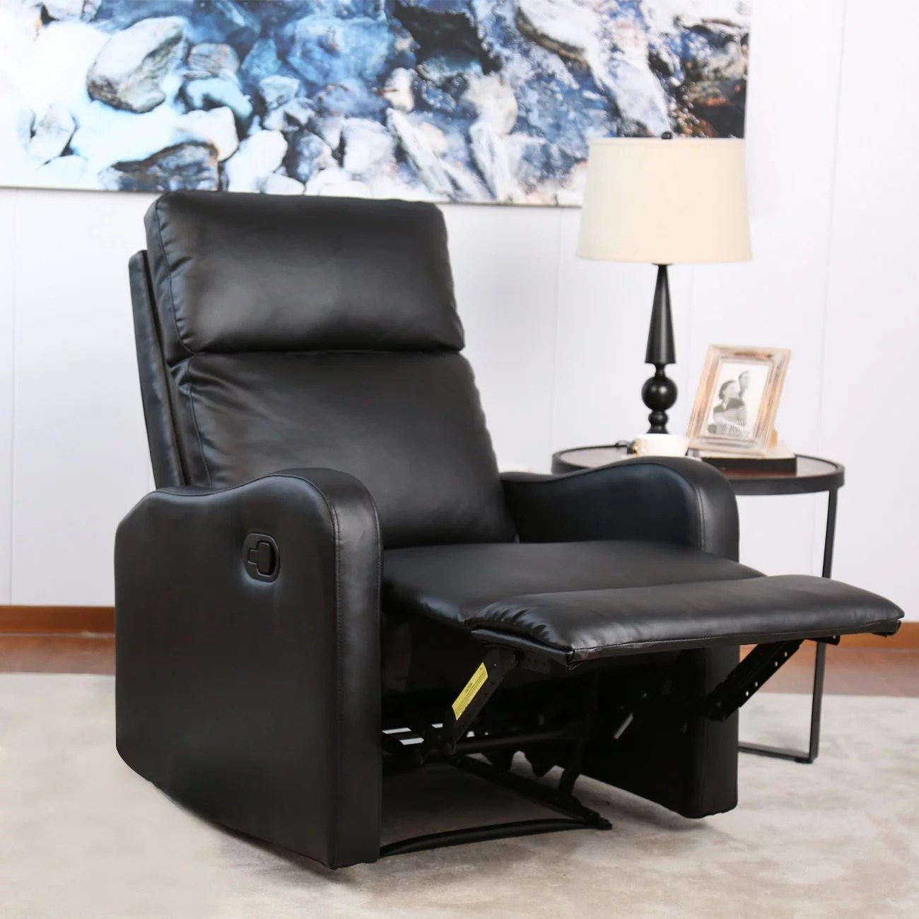 Modern Recliner Chair Bonzy Recliner Chair Black Leather Chairs For Modern Living Room Durable Framework