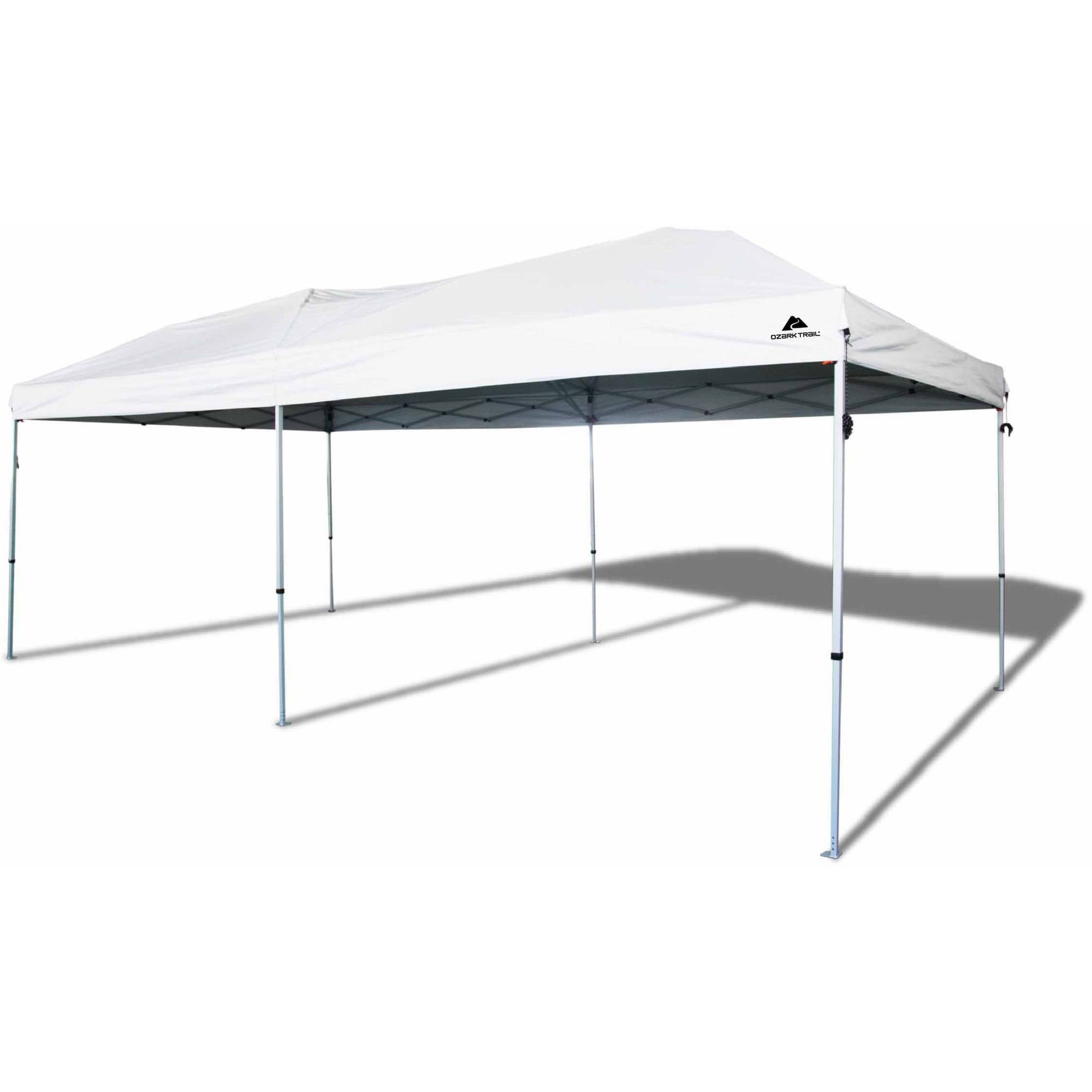 Ozark Trail 20′ x 10′ Straight Leg Instant Canopy (200 Sq. ft Coverage)