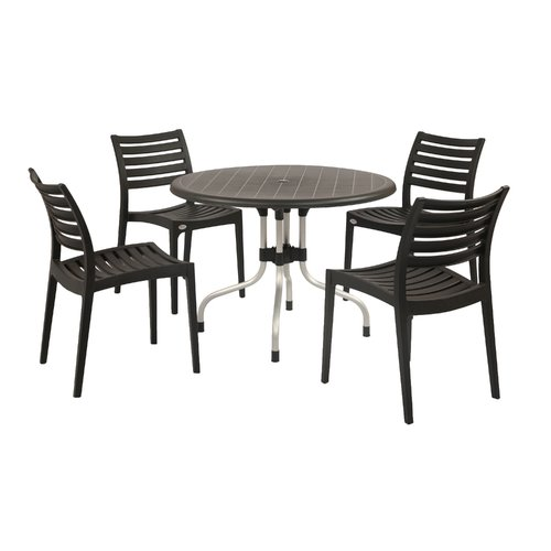kirton chair accessories chairs for table ebern designs commercial grade 5 piece dining set walmart com