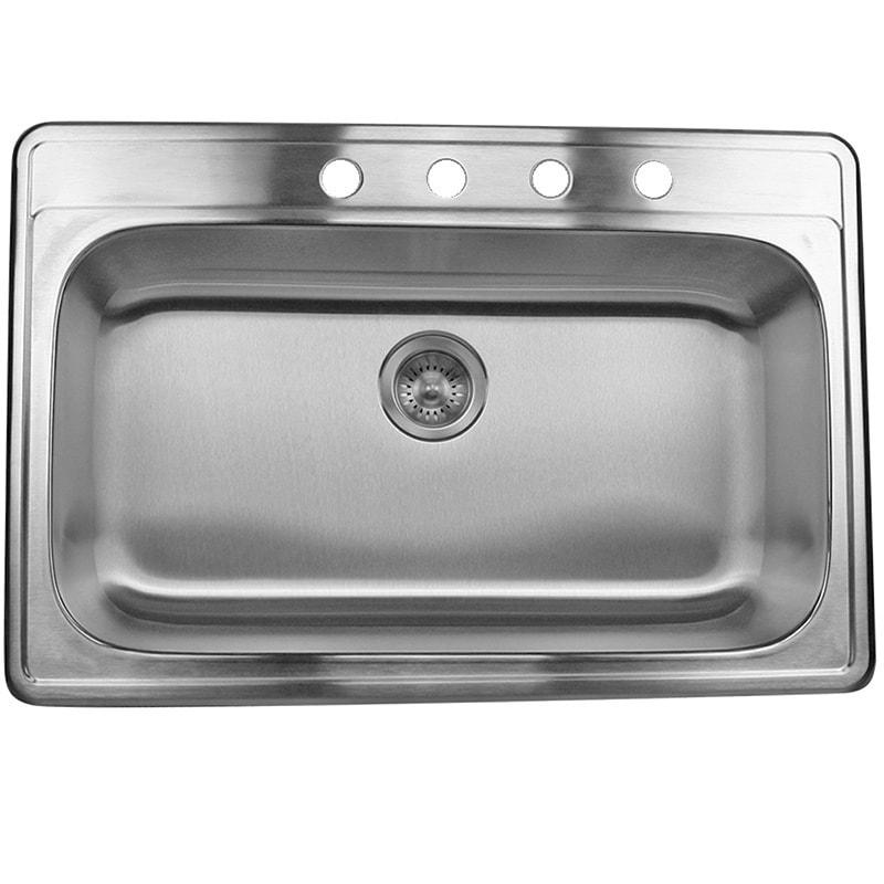 stainless steel 33 inch drop in single bowl kitchen sink