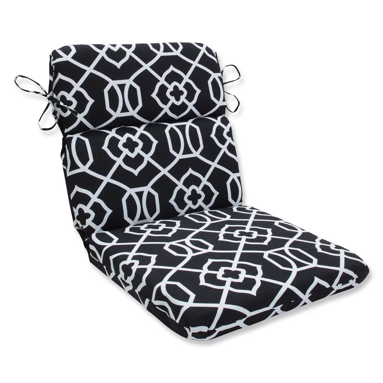 40 5 solarium black and white graceful lattice outdoor patio rounded chair cushion walmart com walmart com