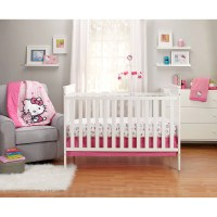 Hello Kitty Cute as a Button 3-Piece Crib Bedding Set ...