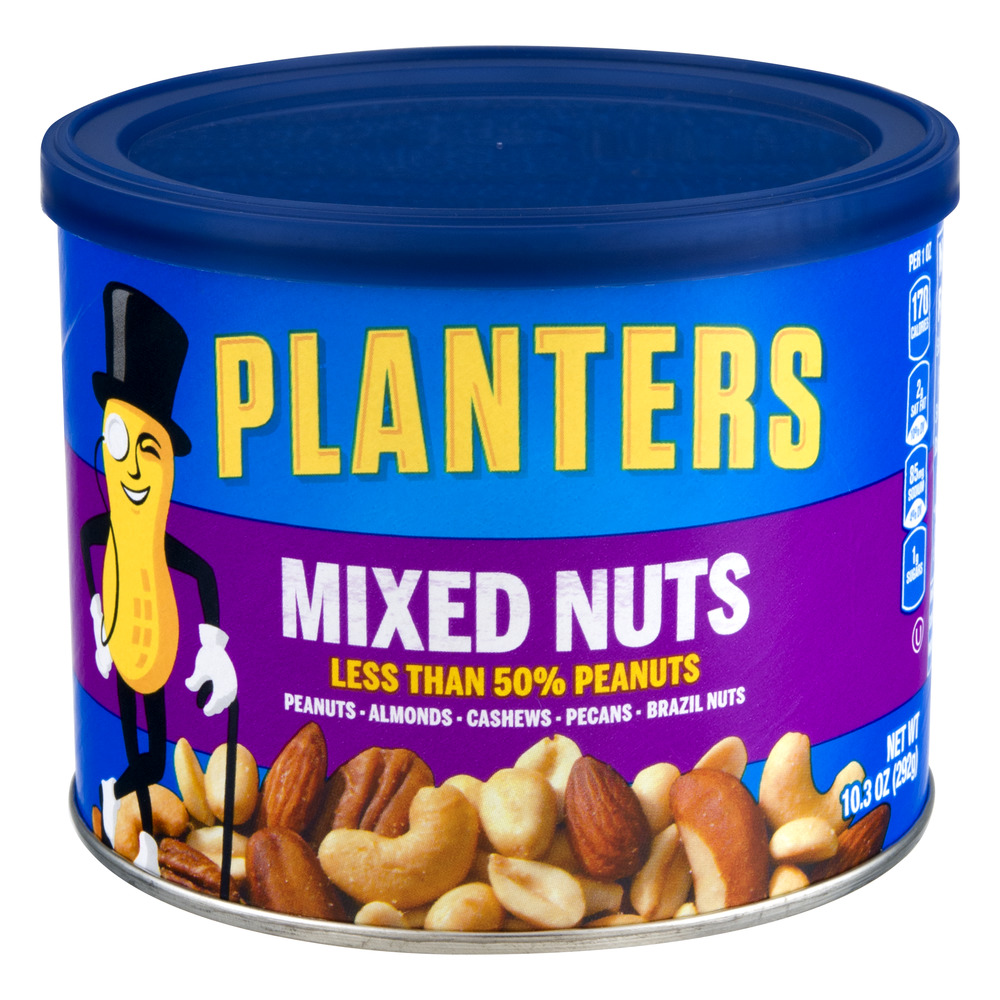 Planters Deluxe Unsalted Mixed Nuts Almond Cashew