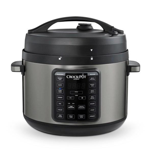Crock-pot 10-qt. Express Crock Pressure Cooker With Easy Release Steam Dial Premium Black