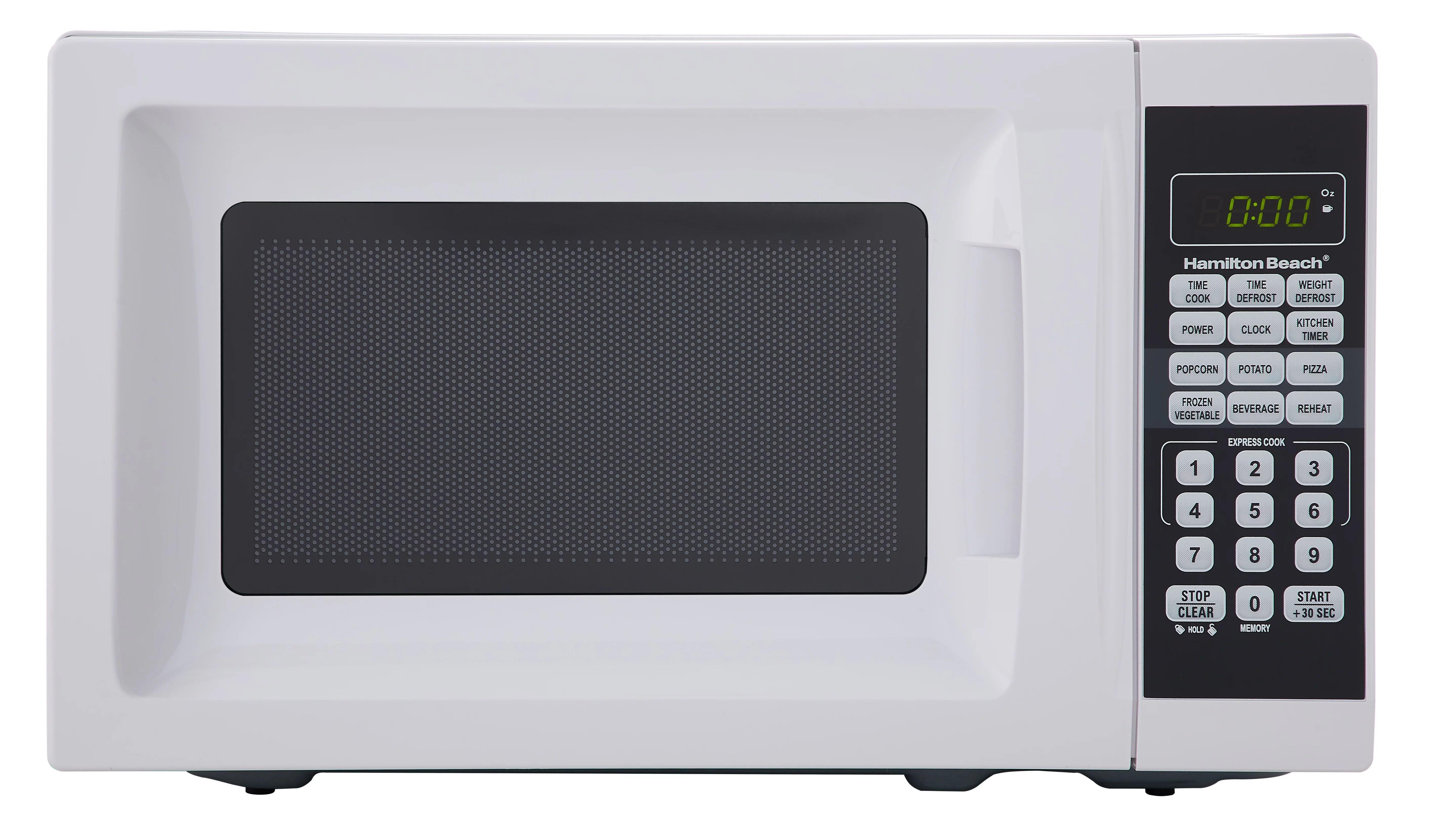 hamilton beach 0 7 cu ft white microwave oven