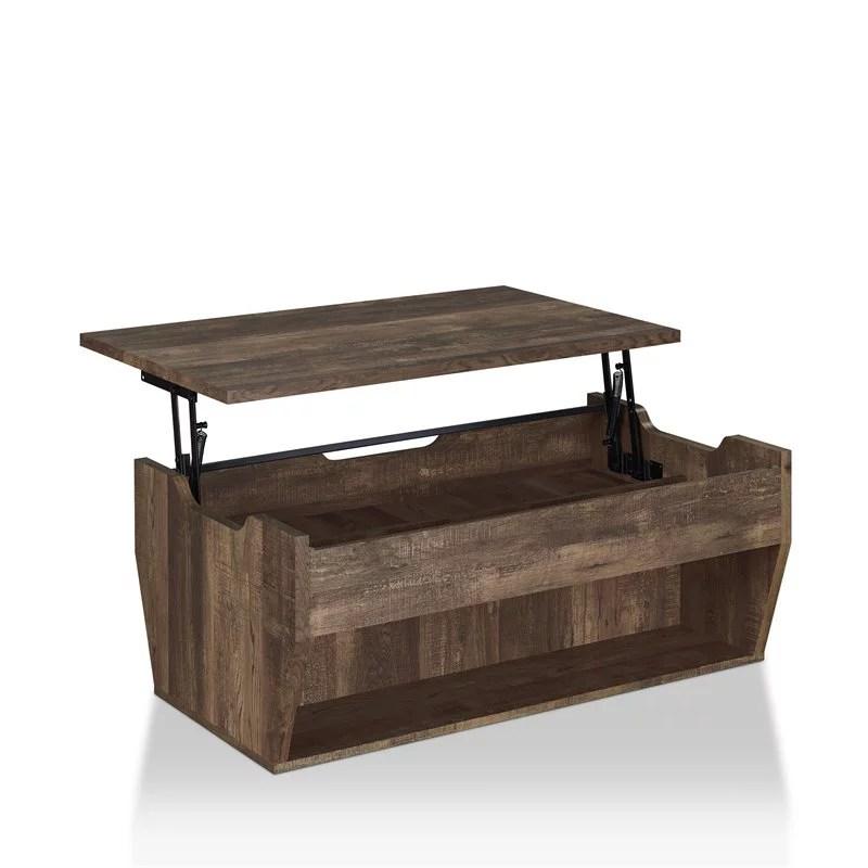furniture of america edwards rustic wood storage coffee table in reclaimed oak walmart com