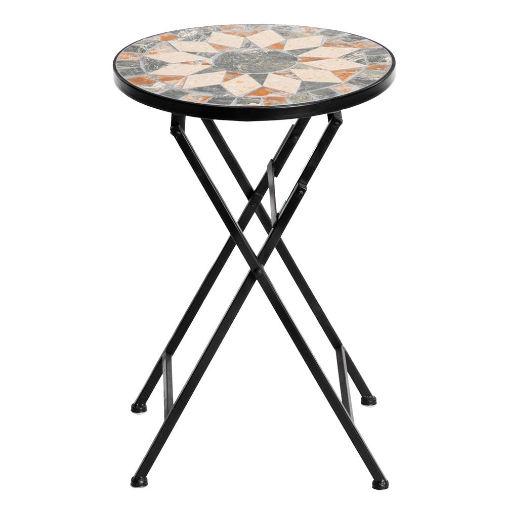 ktaxon mosaic outdoor side table 14 round folding end table accent table