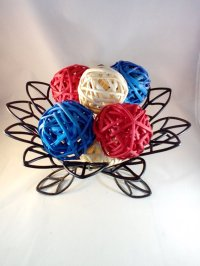 Decorative Spheres Red White and Blue Rattan Vase Filler ...