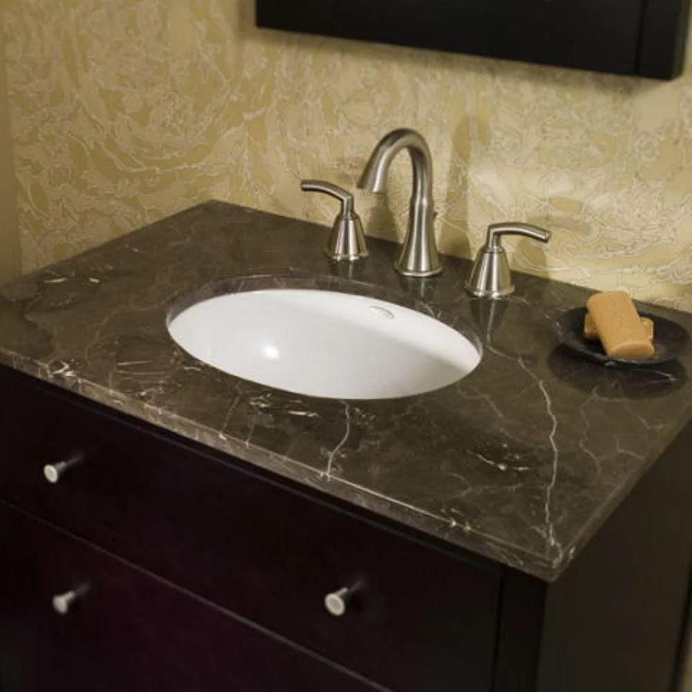 american standard ovalyn undermount bathroom sink in white