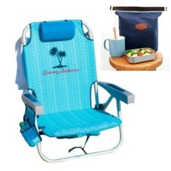 Tommy Bahama Cooler Chair Leather Swivel Chairs 2016 Backpack Beach Blue Weave With Storage Pouch And Towel Bar Plus Carry On Insulated Lunch