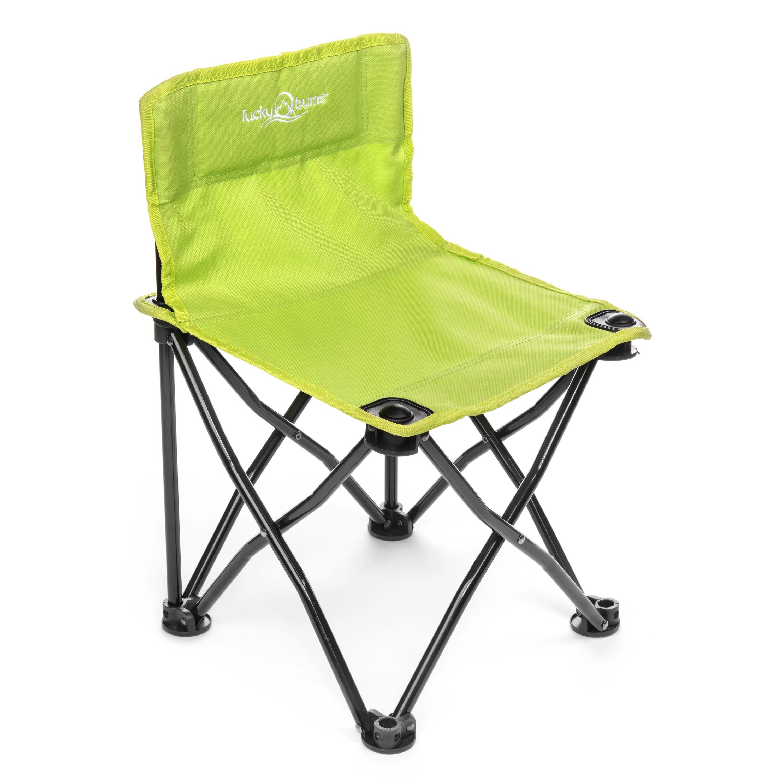 kids folding camp chair big lots club chairs lucky bums quick green walmart com