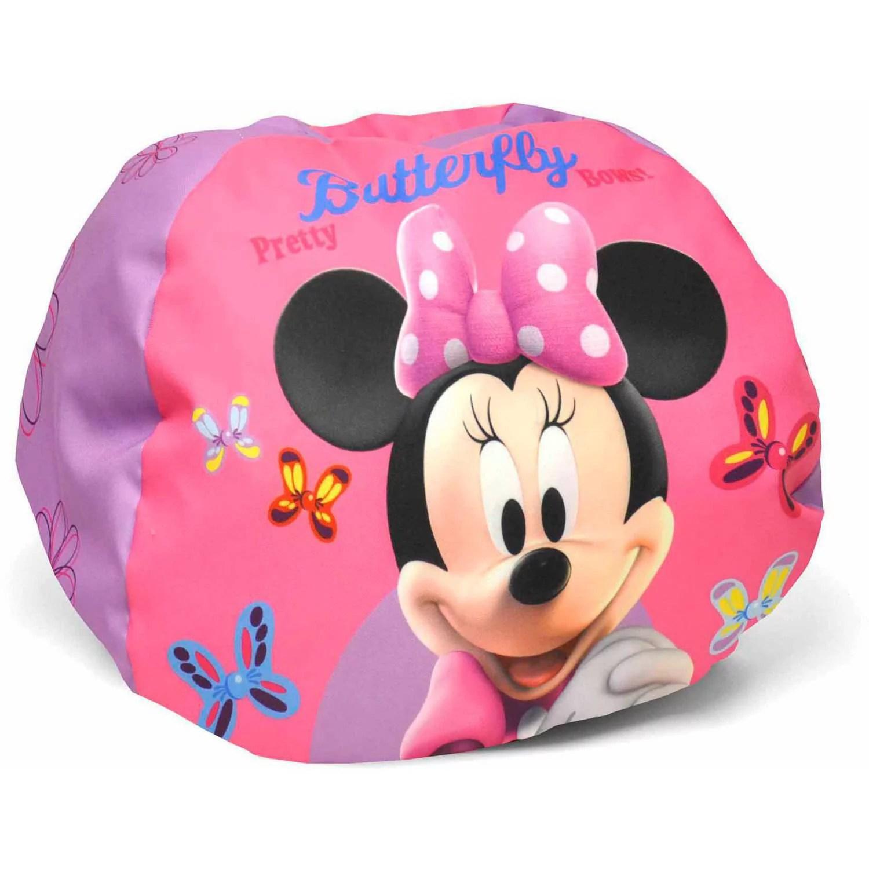 minnie mouse bean bag chair wicker replacement cushions canada disney round walmart com