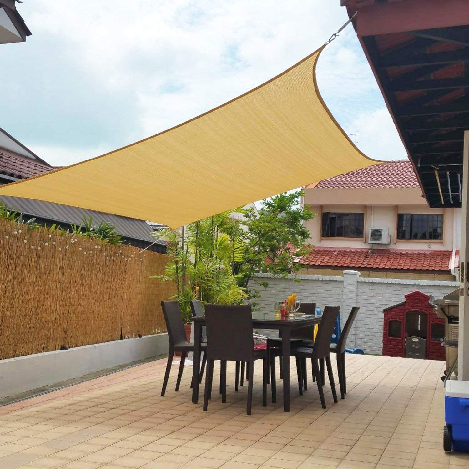 sun shade sail for outdoor patio backyard uv block awning with steel d rings 8 2x8 2ft