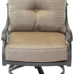 Outdoor Swivel Rocker Chair Teal Desk San Marcos Cast Aluminum Patio Club Walmart Com
